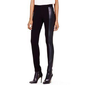 Club Monaco Rochelle Black Faux Leather Panel Pant